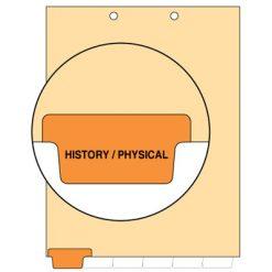 History/Physical Tab Index Chart Divider