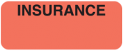 Communication Label Fl Red/Blk Insurance