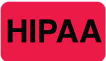 Communication Label Red/Blk HIPAA