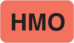 Communication Label Fl Red/Blk HMO