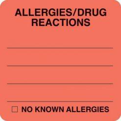 Allergies/Drug Reactions