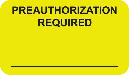 Preauthorization Required