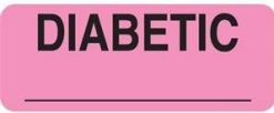 Communication Label Fl Pk/Blk Diabetic