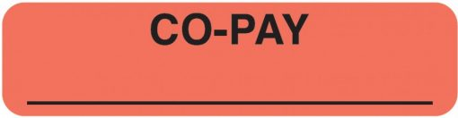 Communication Label Fl Red/Blk Co-Pay