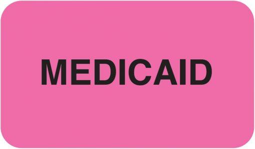 Communication Label Fl Pink/Bk Medicaid