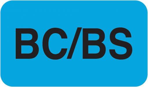 Communication Label Lt Blue/Bk BC/BS