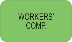 Communication Label Fl Green/Bk Workers' Comp