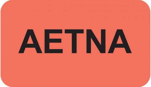 Communication Label Fl Red/Bk AETNA