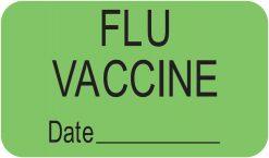 Communication Label Fl Green/Bk Flu Vaccine