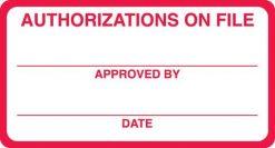 Authorization On File
