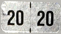 2020 Hologram Year code label