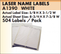A1390 Laser Name Labels