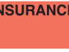 Communication Label Fl Red/Blk Insurance