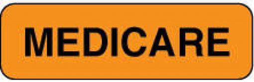 Communication Label Fl Org/Blk Medicare
