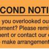 Second Notice