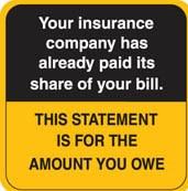Communication Label Orange/Bk Your Insurance