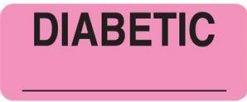 Communication Label Fl Pk/Blk Diabetic