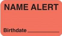 Communication Label Fl Red/Blk Name Alert/Birthdate