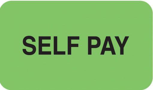 Communication Label Fl Green/Bk Self Pay
