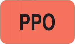 Communication Label Fl Red/Bk PPO