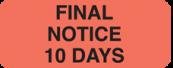 Communication Label Fl Red/Bk Final Notice