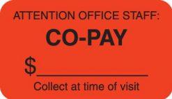 Communication Label Fl Red/Bk Attention Office Staff