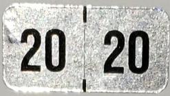 2020 Hologram Year code label