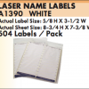 A1390 Laser Name Labels