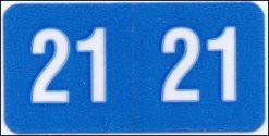 Mini 21 year code Blue Smead match