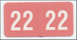 Smead 2022 mini year code label